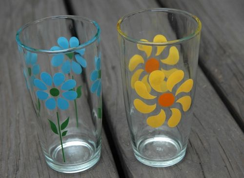 Vintage flower glass1