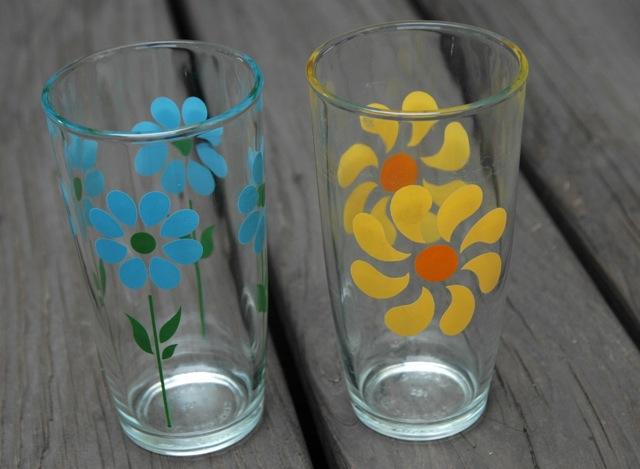 Vintage flower glass1