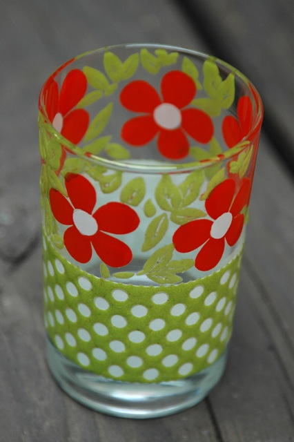 Vintage flower glass2