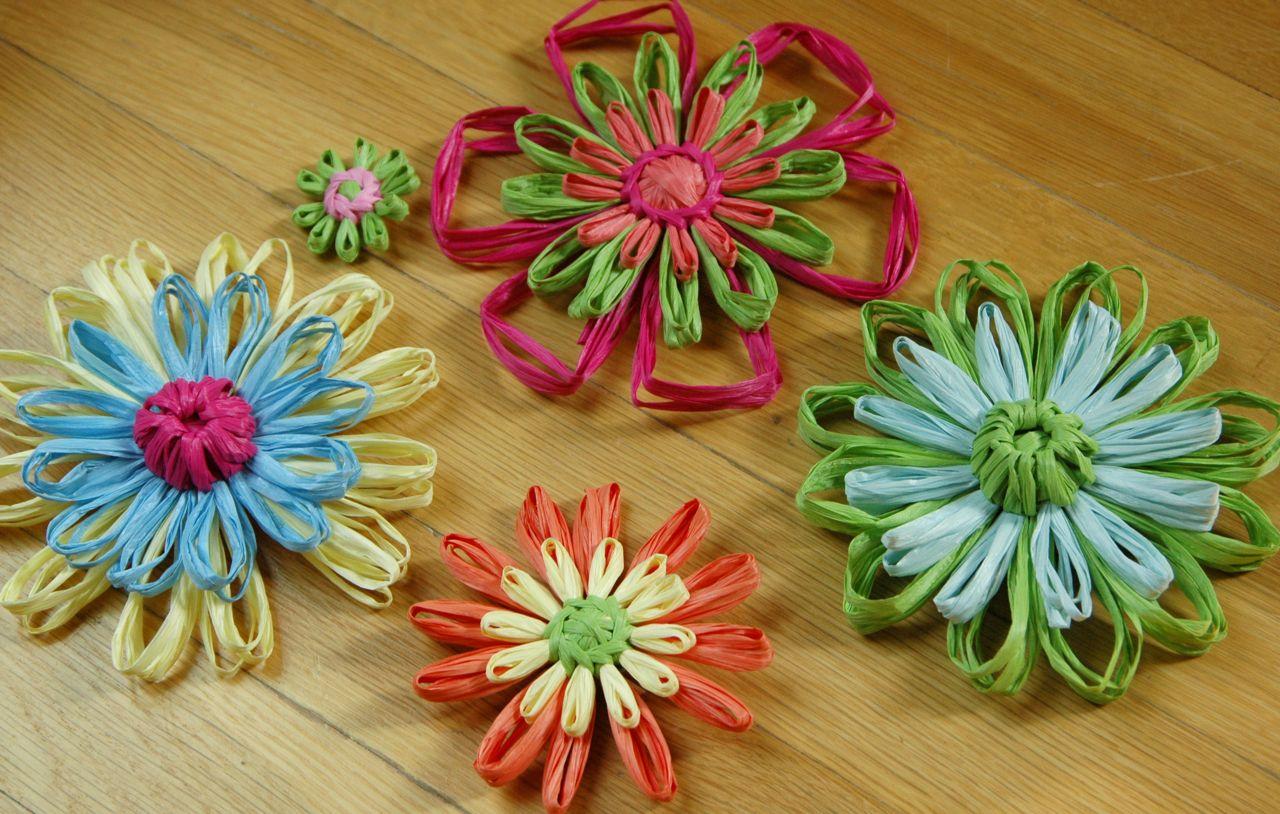 Raffia flowers 3