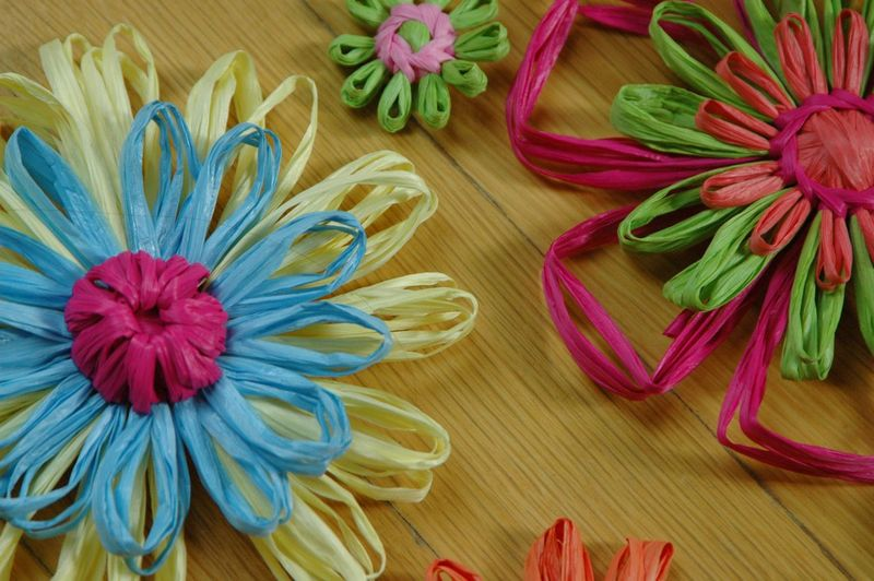Raffia flowers 2