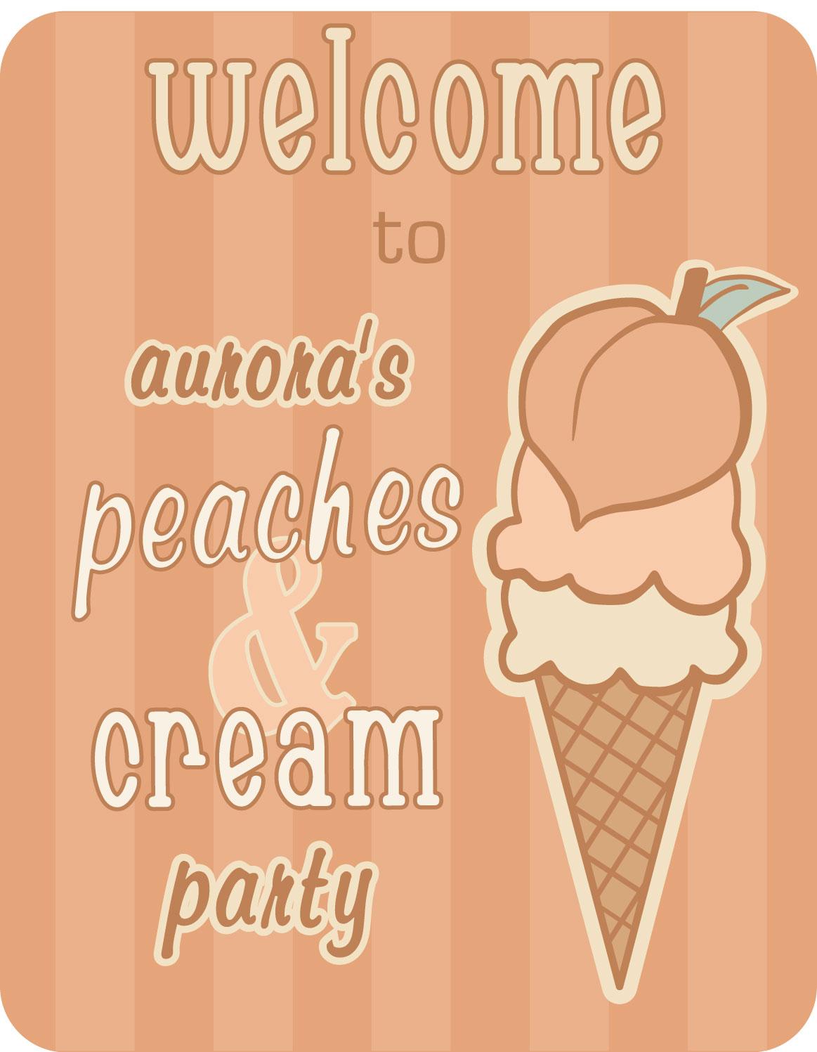 Peach welcome