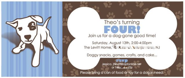 Puppy party invite 1